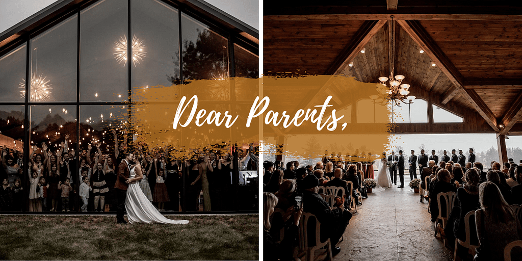 Parents paying for a wedding, making wedding planning stressful