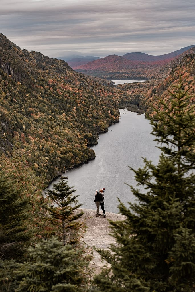 Proposal photos on Indian Head in the Adirondack Mountains in Keene Valley, NY