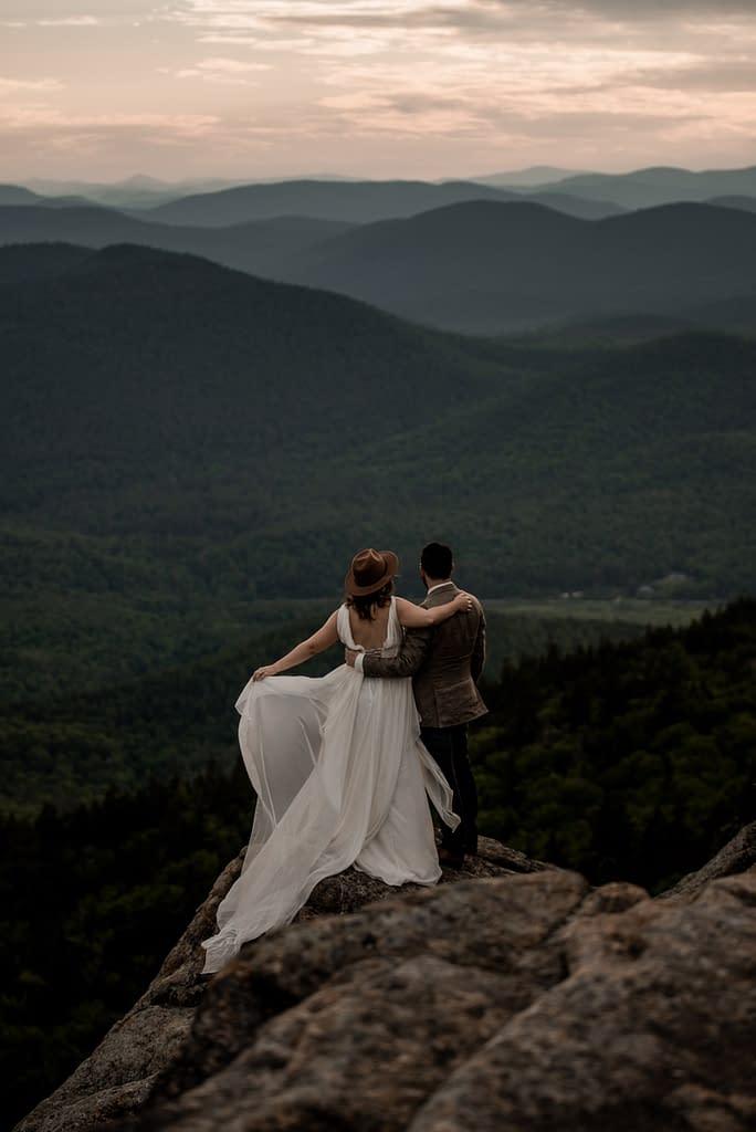 Mountaintop elopement in the Adirondacks of New York
