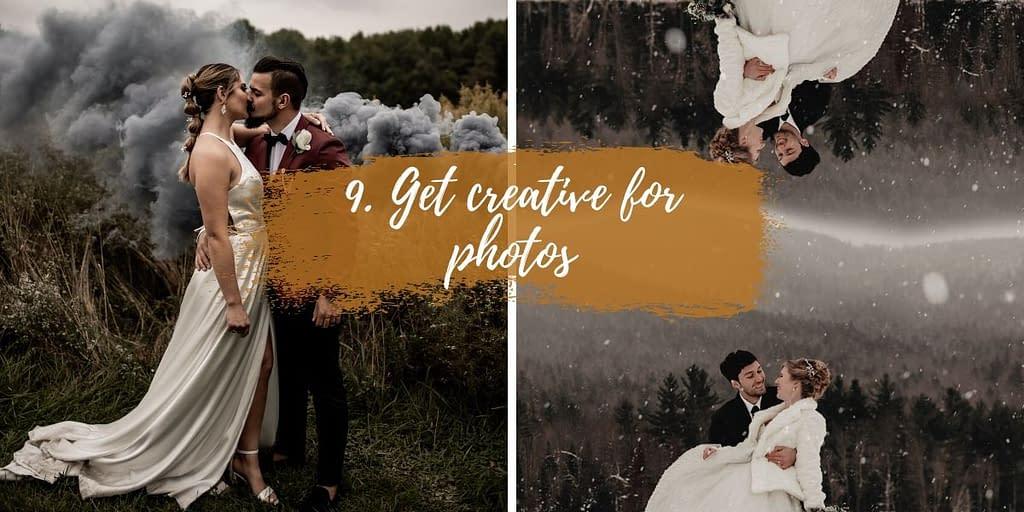 Creative Adirondack elopement photos