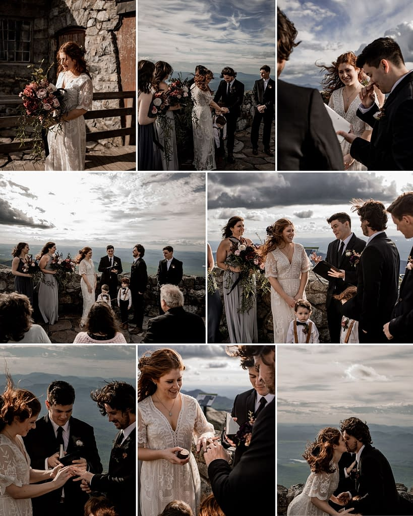 Elopement ceremony on Whiteface Mountain in the the Adirondacks, photos by Adirondack photographers The Pinckards