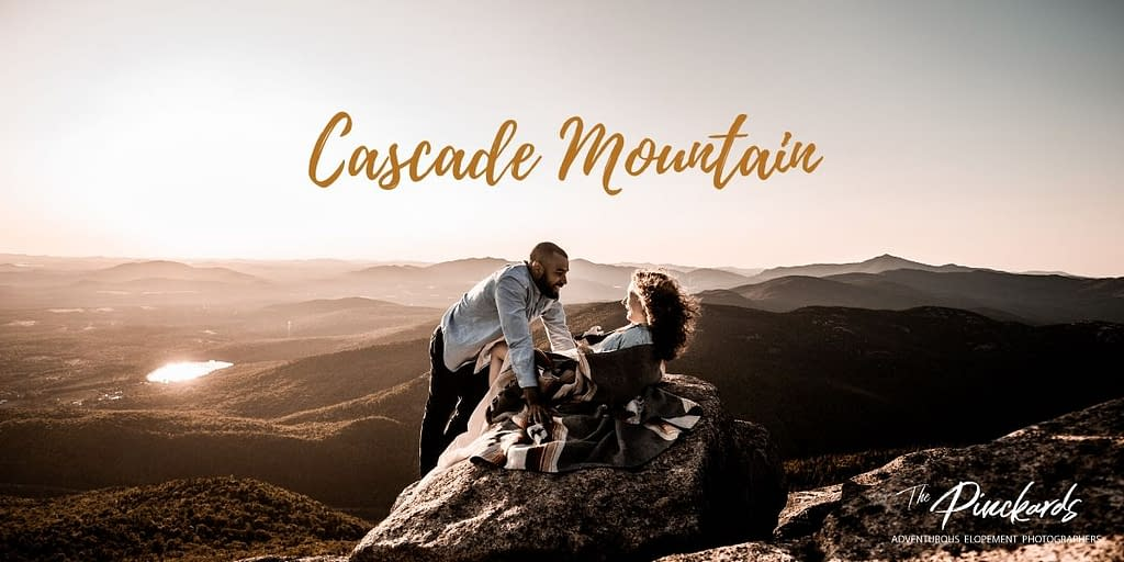 Proposal on Cascade Mountain. One of the best places to propose in the Adirondacks.