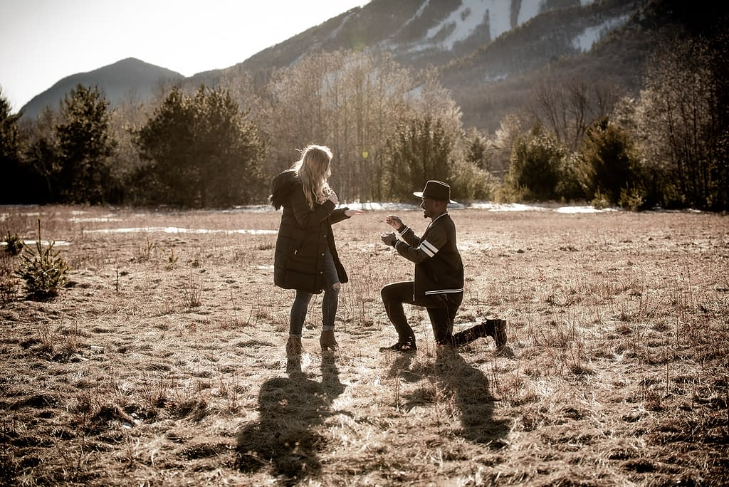 Proposal near Whiteface Mountain in the Adirondacks