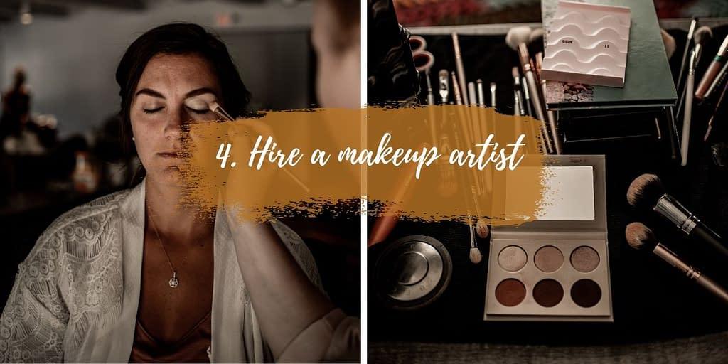 Hire a makeup artist for your elopement