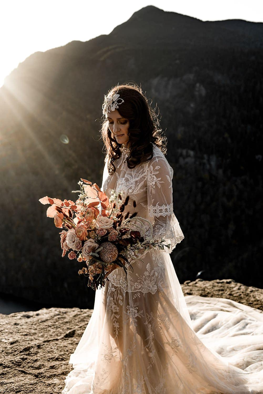 Bridal portrait in the Adirondacks