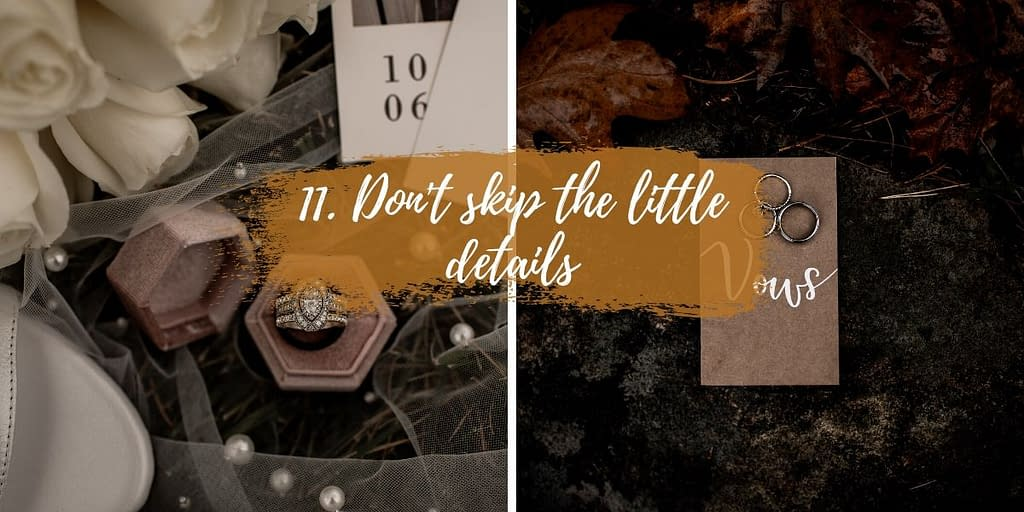 How to plan an elopement - don't forget the little details