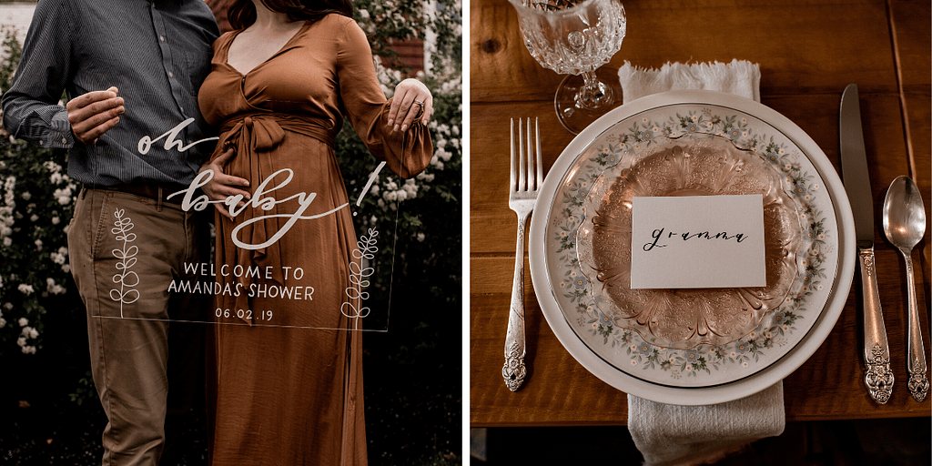 Wedding calligraphy and decor in the Adirondacks, photos by the Pinckards