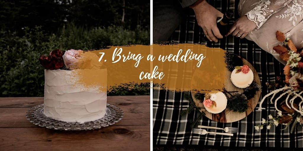 Bring a wedding cake to your ADK elopement