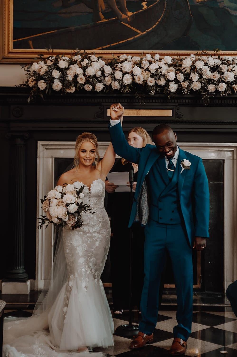 Wedding ceremony exit, captured by Adirondack photographers The Pinckards