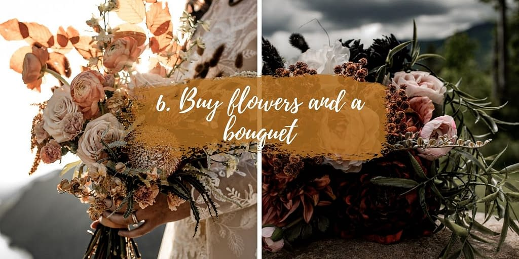 How to elope in upstate New York - buy flowers and a bouquet