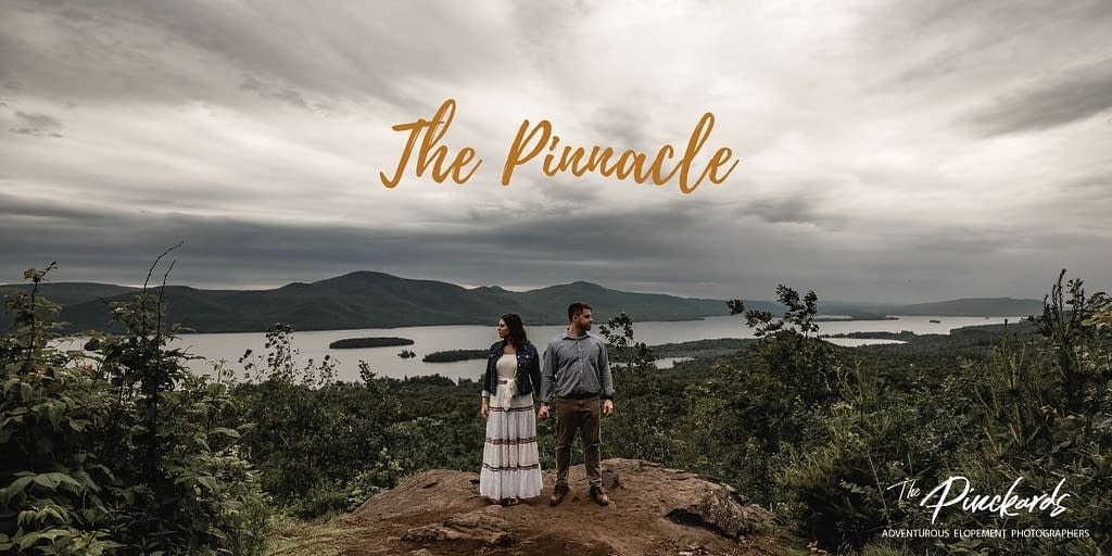 The Pinnacle in Lake George, New York. One of the best places to propose in the Adirondack Mountains.