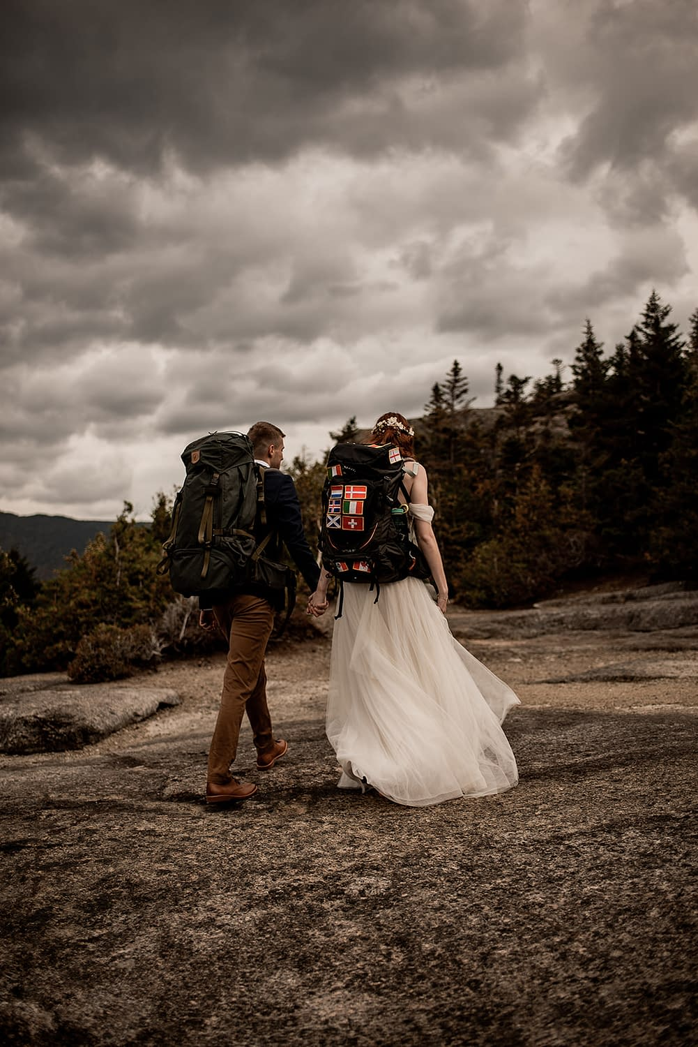 Adirondack elopement package on a mountain