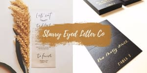 Vendor Interview: Starry Eyed Letter Co. | Wedding Calligraphy + Lettering