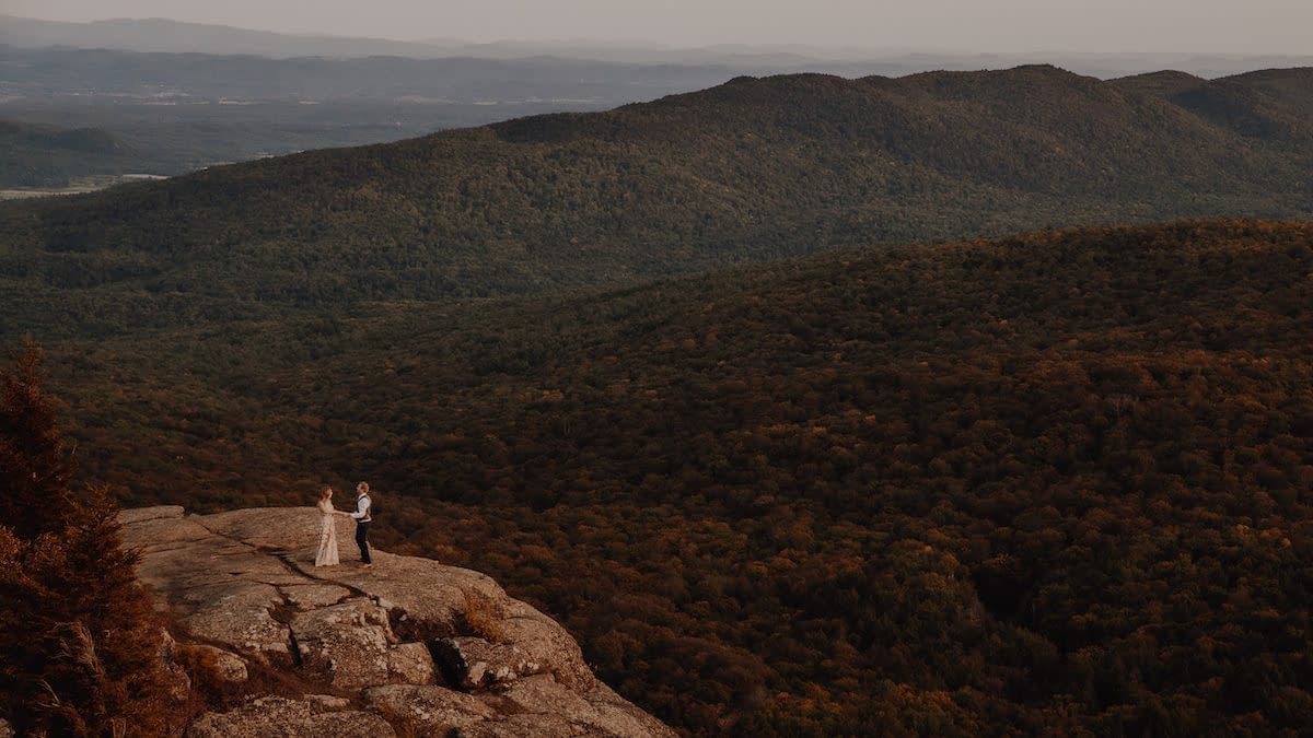 Eloping in Lake George, NY on Sleeping Beauty Mountain