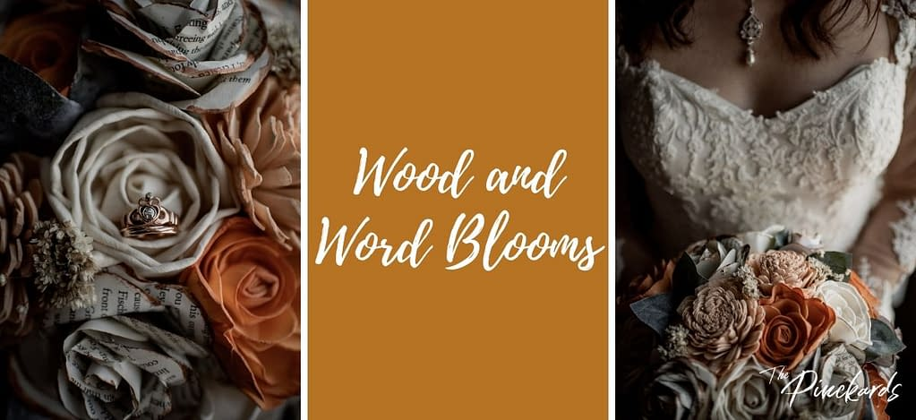 Wood and Word Blooms, wooden flowers that can be delivered for Adirondack weddings