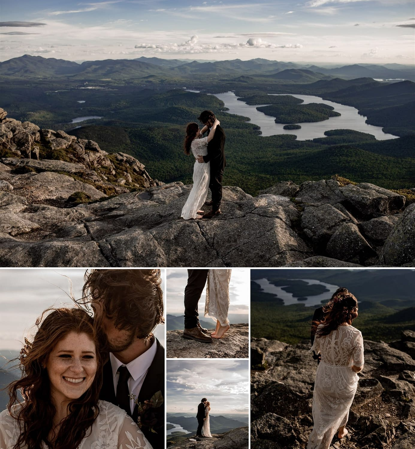 Elopement portraits on Whiteface Mountain in the Adirondacks