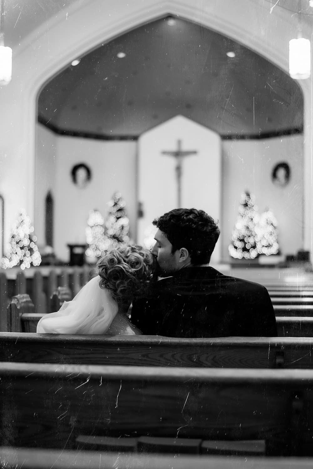 Wedding in a church in Lake Placid NY