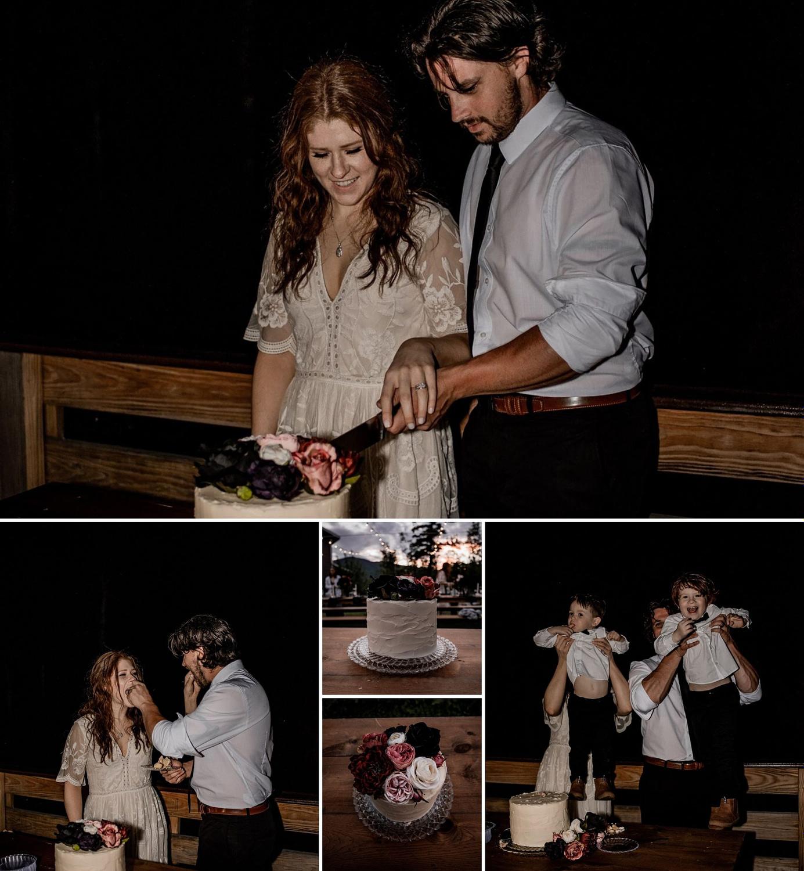 Adirondack wedding reception after mountaintop elopement