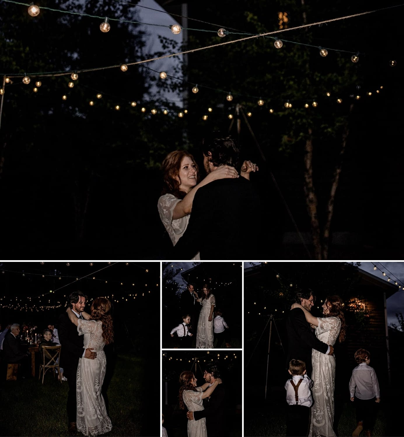 Wilmington and Lake Placid wedding and elopement photos, first dance