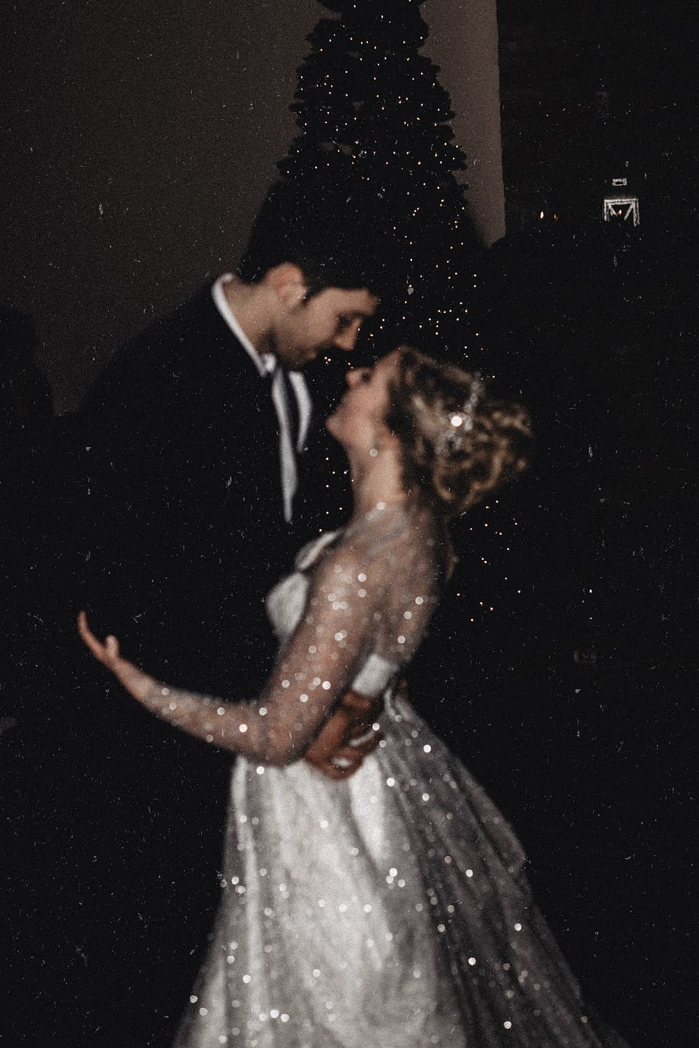 Wedding photos of a first dance in Lake Placid